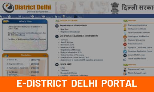 E-District Delhi Portal feature image