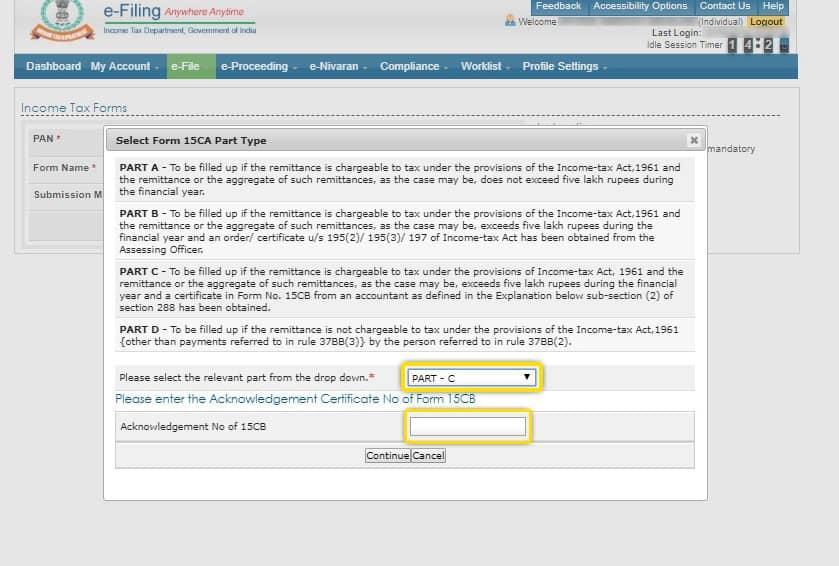 form 15 ca& cb step4