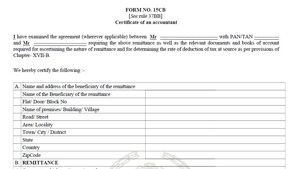 form 15 ca -step 5