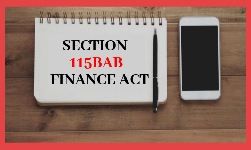 Section 115BAB by Finance Act