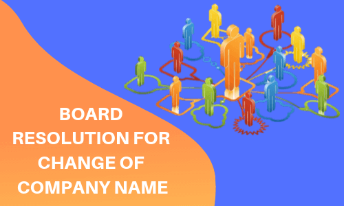board resolution for change of company name