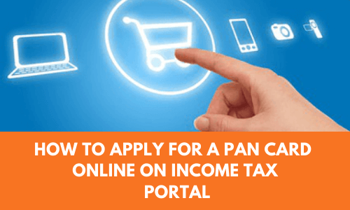 how to apply for a pan card online on Income tax portal