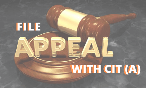 How to file appeal with CIT (A)