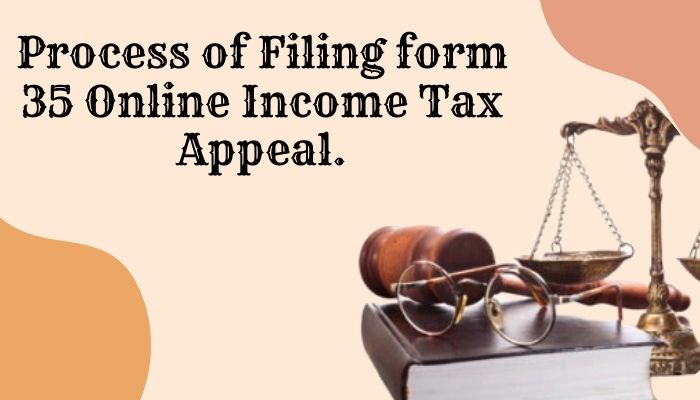 Process of Filing form 35 Online Income Tax Appeal