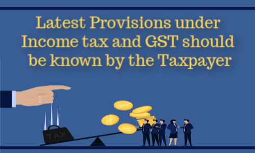 provision under income tax and gst